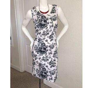 🌹Black and White Rose & Thorn Dress🌹 Tag Size 4